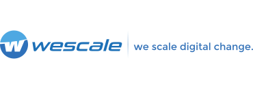 wescale Logo mit Claim quer