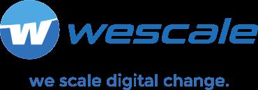 wescale Logo mit Claim
